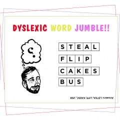 dyslexic word jumble